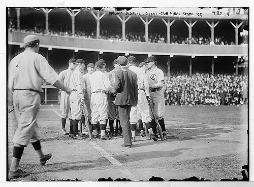 1908 Cubs Giants final game