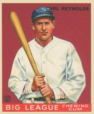 Carl Reynolds Goudey card