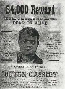 Butch Cassidy reward poster