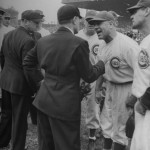 Grimm arguing with an umpire