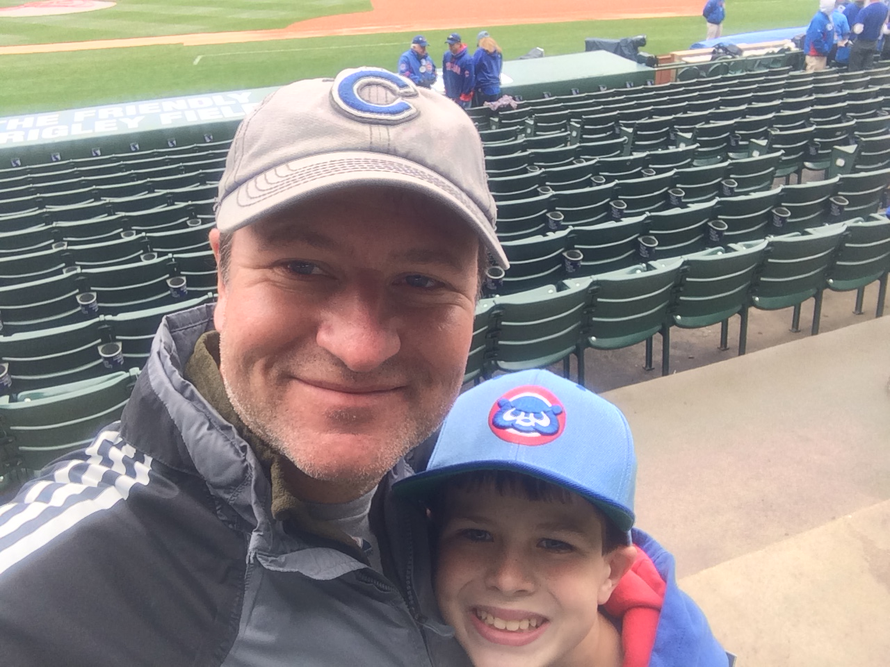Rick and Sean at Wrigley