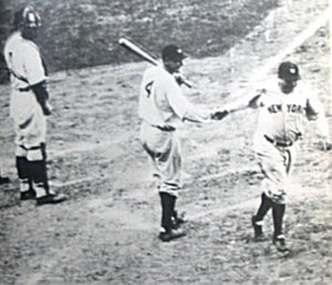 Ruth home run with Gehrig 1932