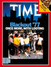 Time Magazine cover NYC blackout